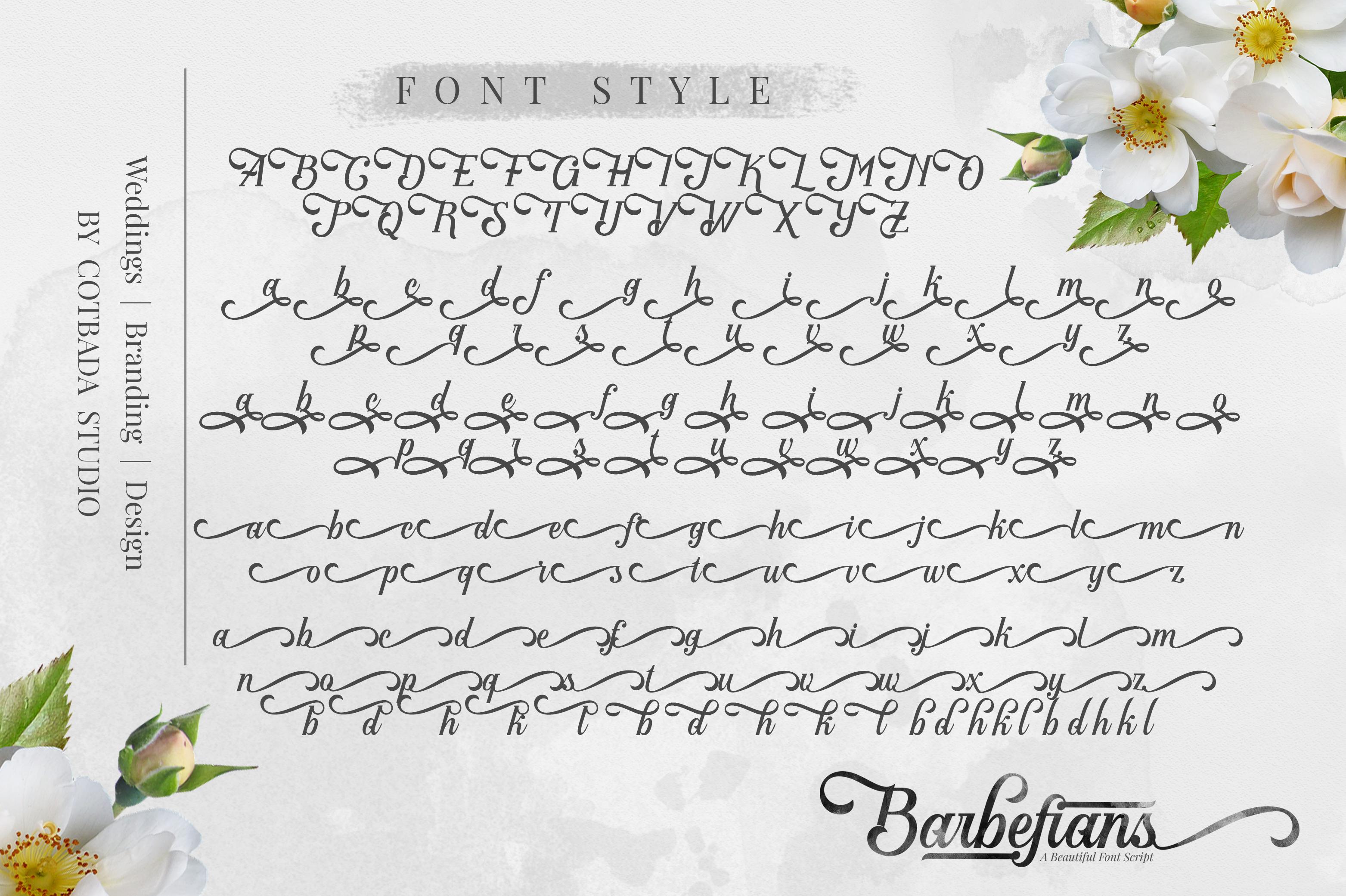 Barbefians Font Script example image 4