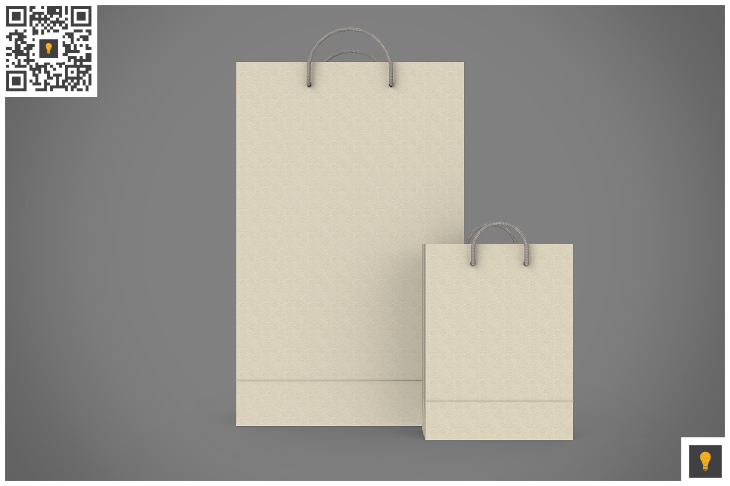 Shopping Bag 3D Render example image 9