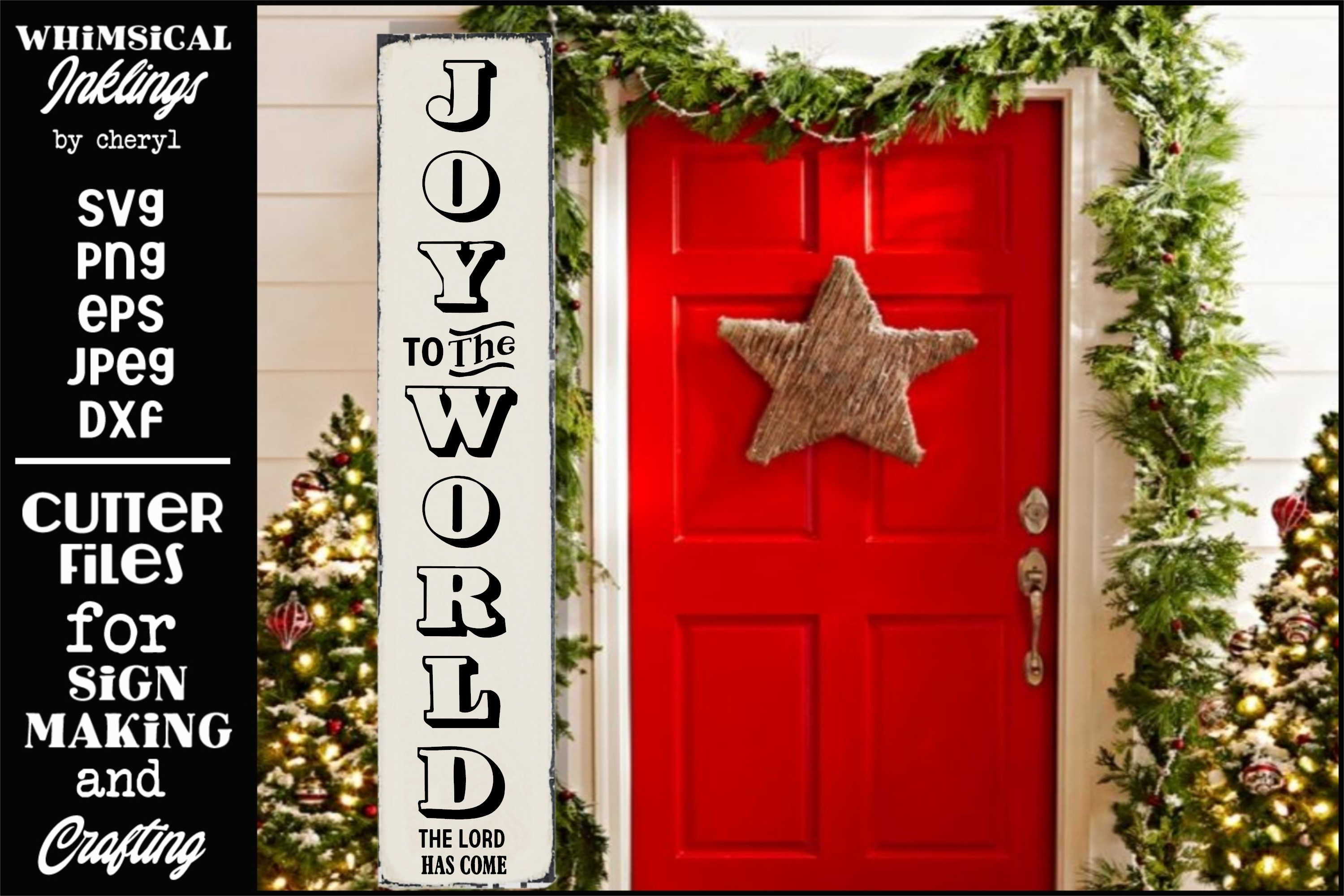 Joy To The World-Christmas-Vertical SVG example image 1