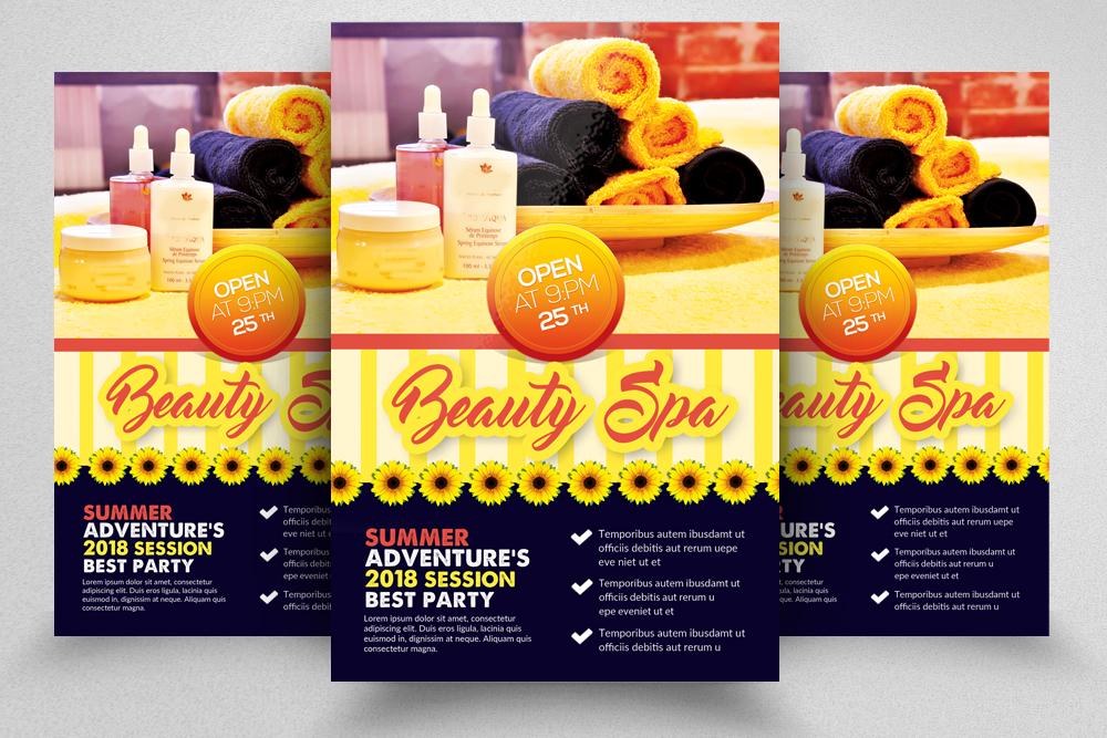 10 Spa & Skin Care Centre Flyer Bundle example image 2