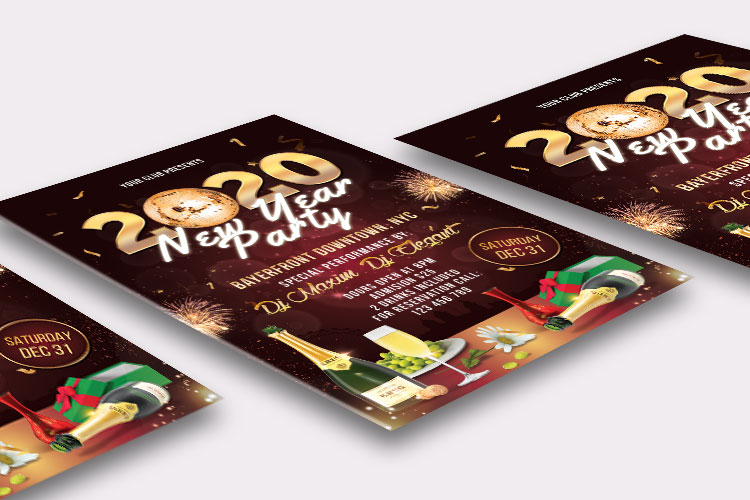 NEW YEAR PARTY FLYER 2 example image 5