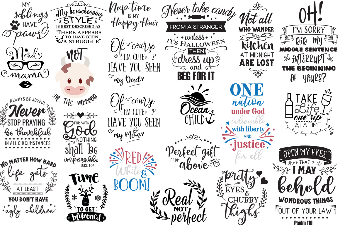 The Ginormous SVG Cut Files Bundle example image 19