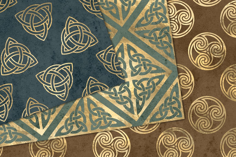 Gold Celtic Digital Paper example image 2