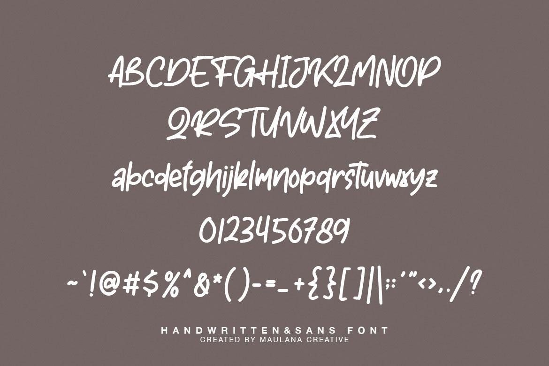 Astherik - Handwritten Free Sans Font example image 10