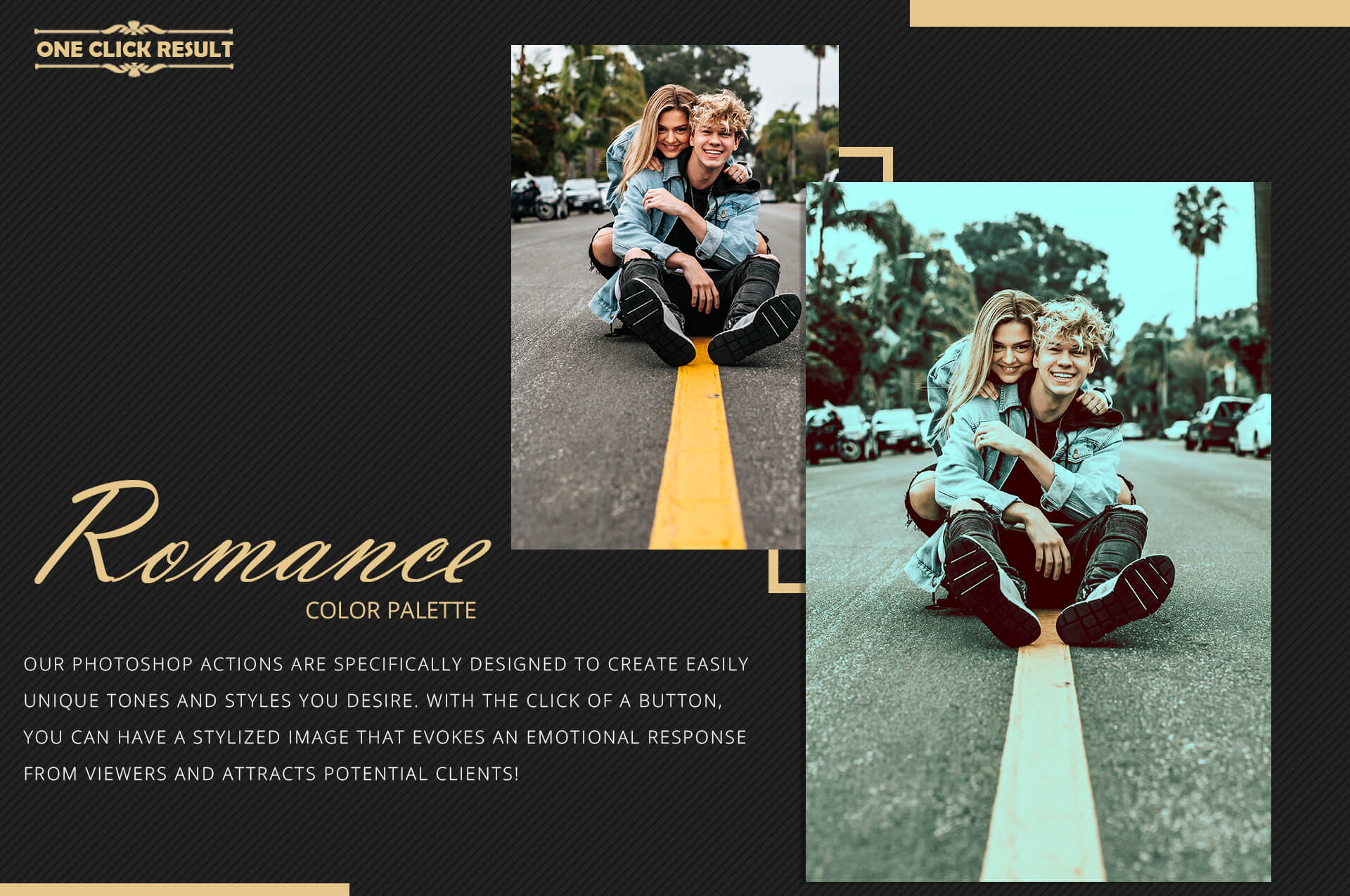 Romance Cinematic Color Grading Photoshop action Filter example image 8