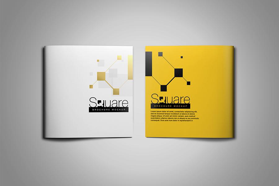 Square Brochure Mockup example image 7
