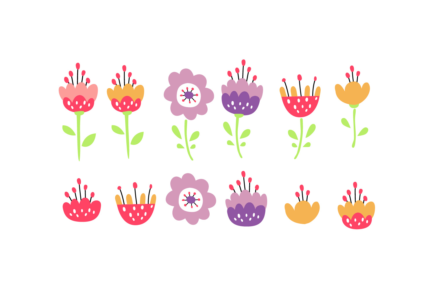 Flower design collection svg example image 7