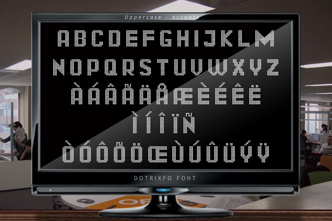 Dotrixfo Font example image 9