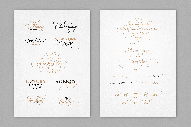 Black & White - premium quality font example image 11