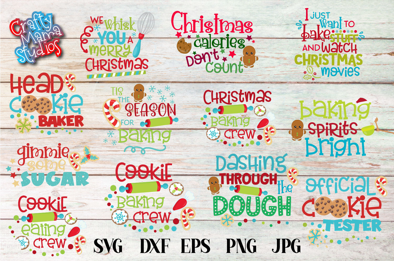 Christmas Cookie Baking Bundle SVG, Christmas Sublimation example image 1