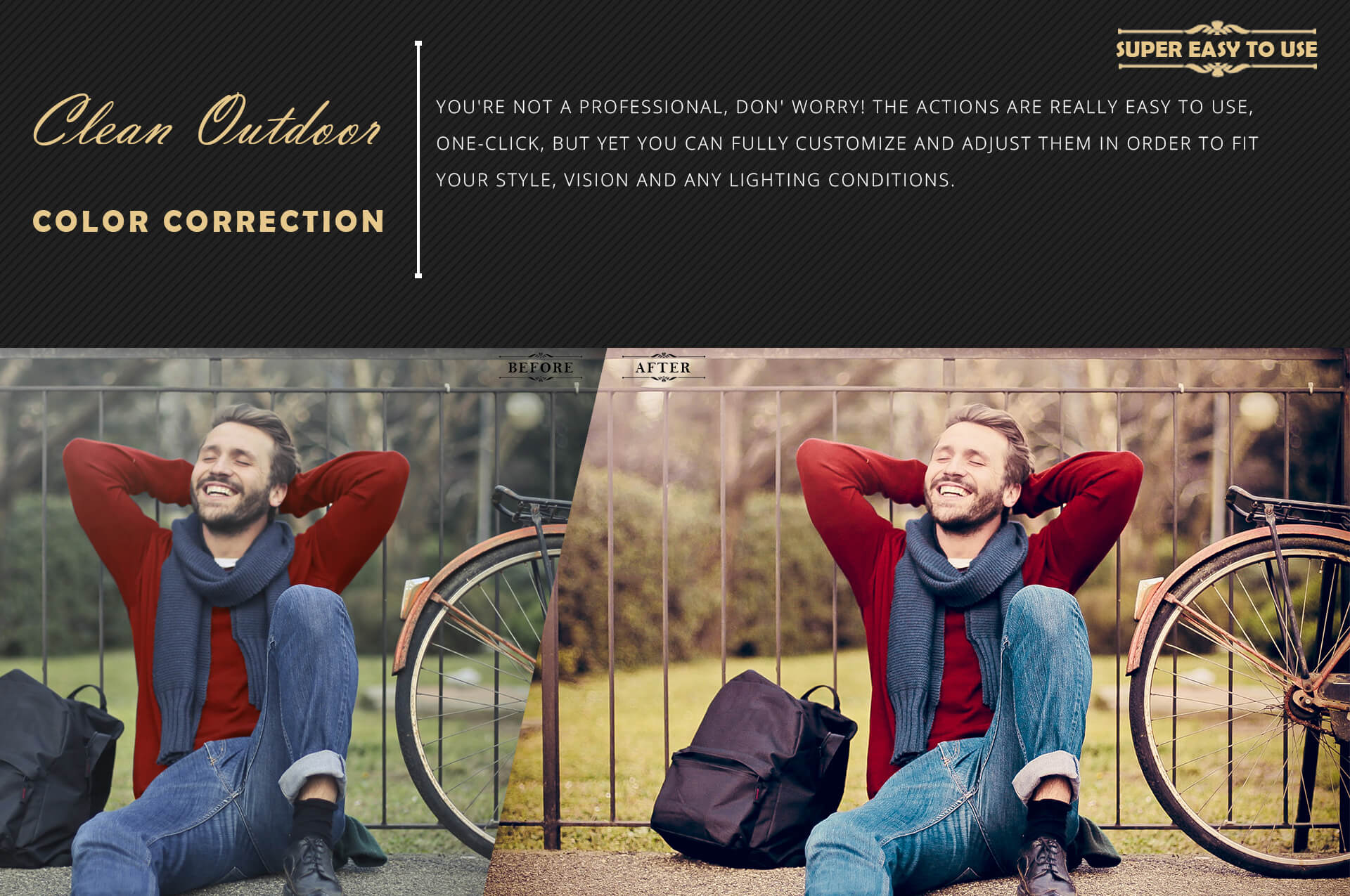 Neo Clean Outdoor Color grading Photoshop Actions example image 5