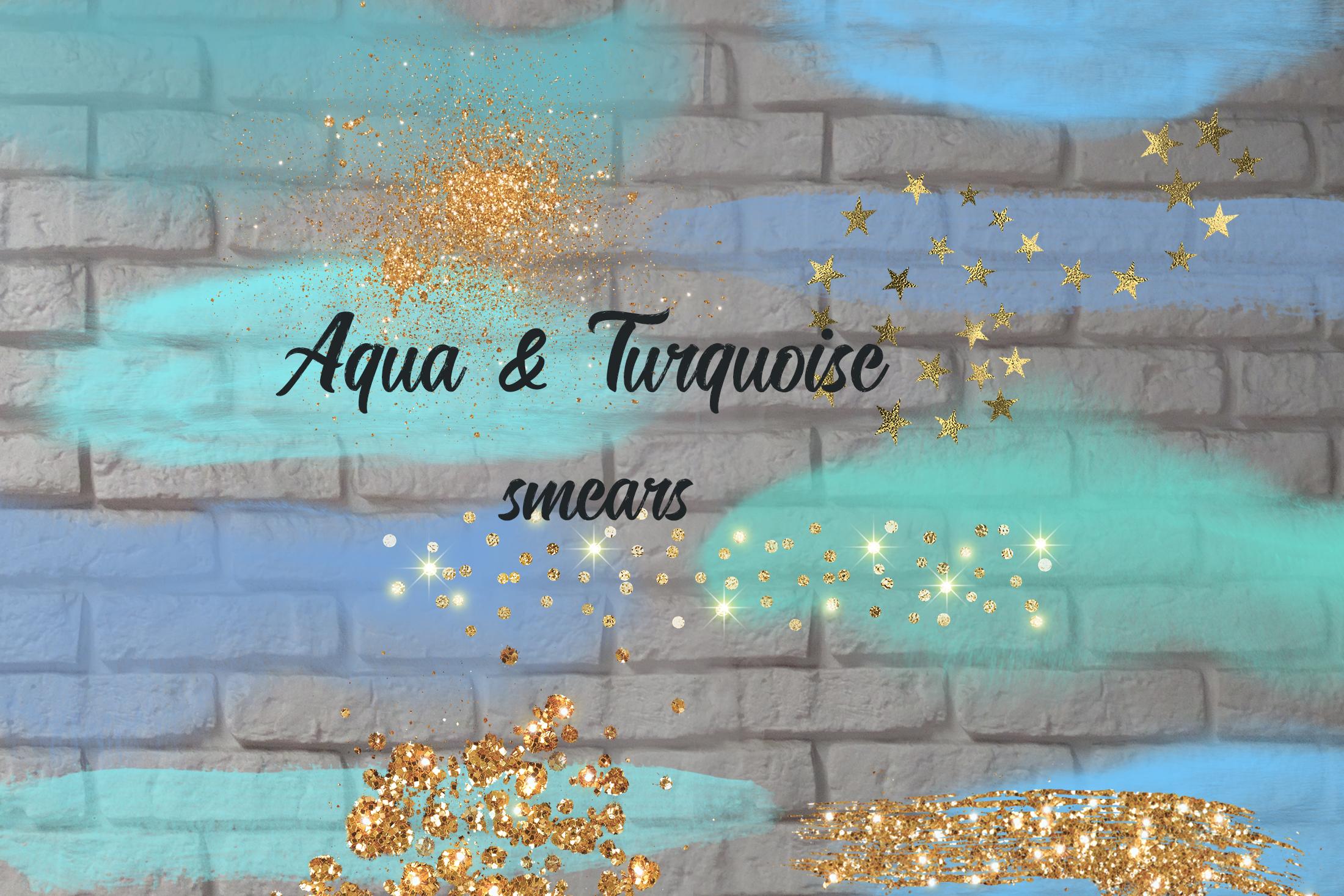 Aqua&Turquoise smears example image 2