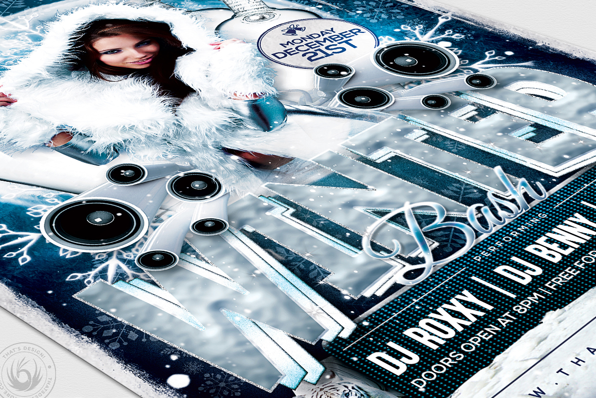 Winter Bash Flyer Template V1 example image 6