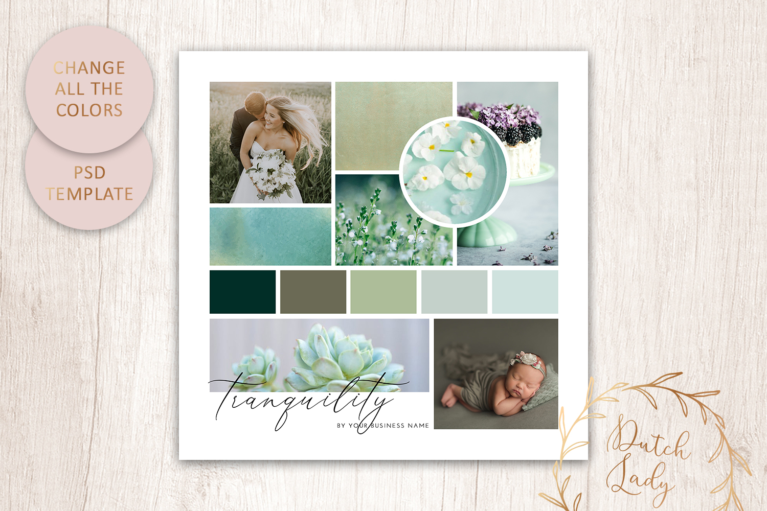 PSD Mood & Vision Board - Adobe Photoshop Template - #7 example image 3