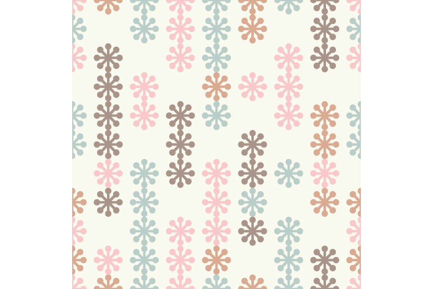 Set of 12 seamless backgrounds with decorative snowflakes.  example image 7