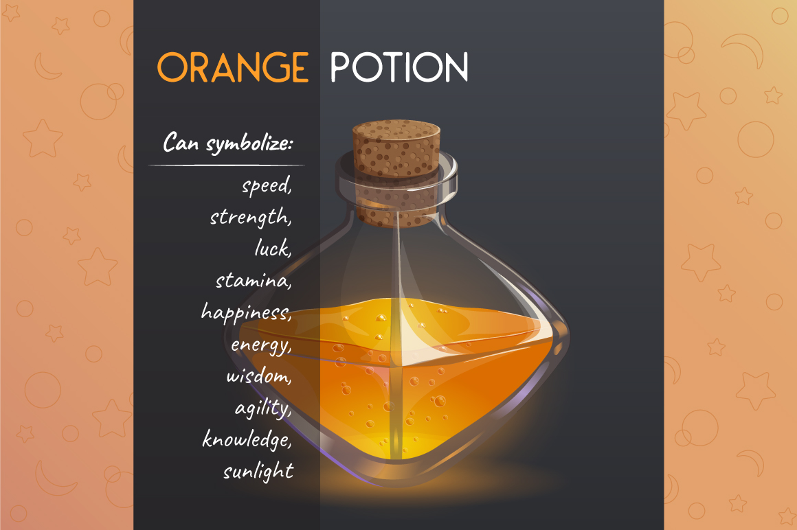 Magic bottles. Game icon set. example image 2