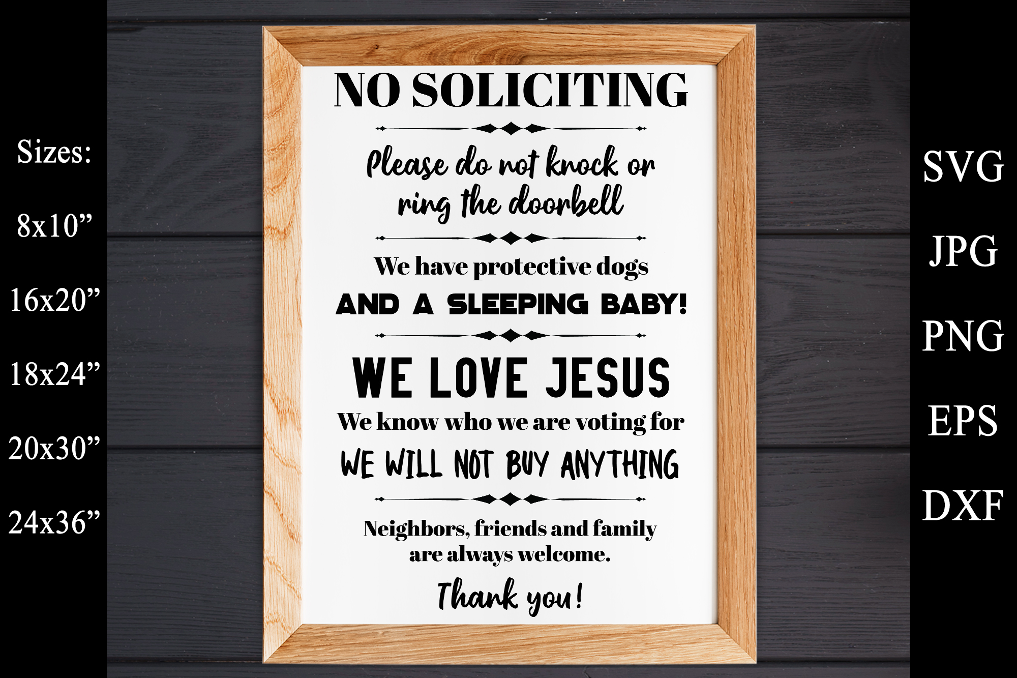 No Soliciting - Do Not Ring The Doorbell SVG EPS Solicitors example image 1