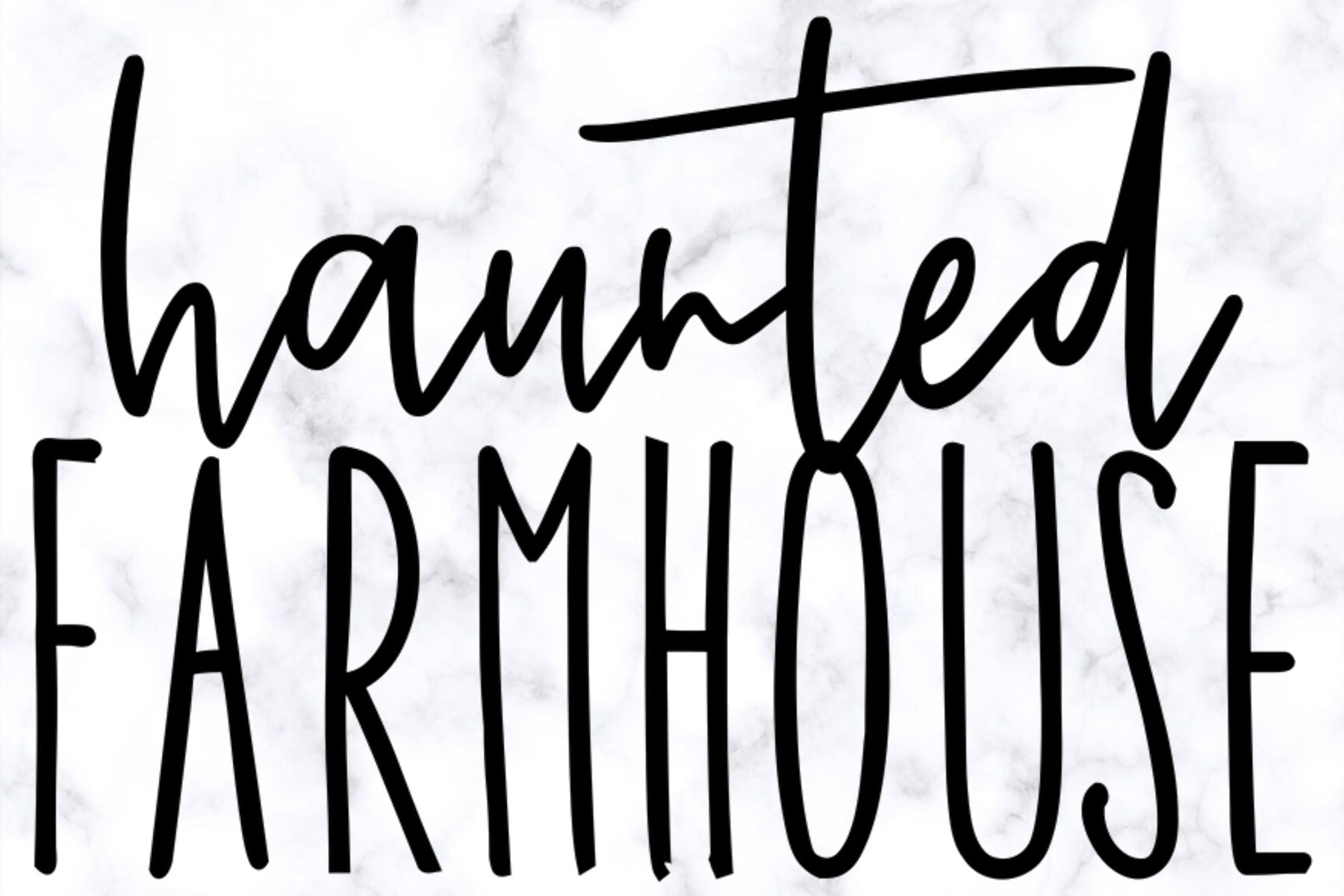 Haunted Farmhouse SVG |Halloween SVG Sign Digital Cut File example image 3