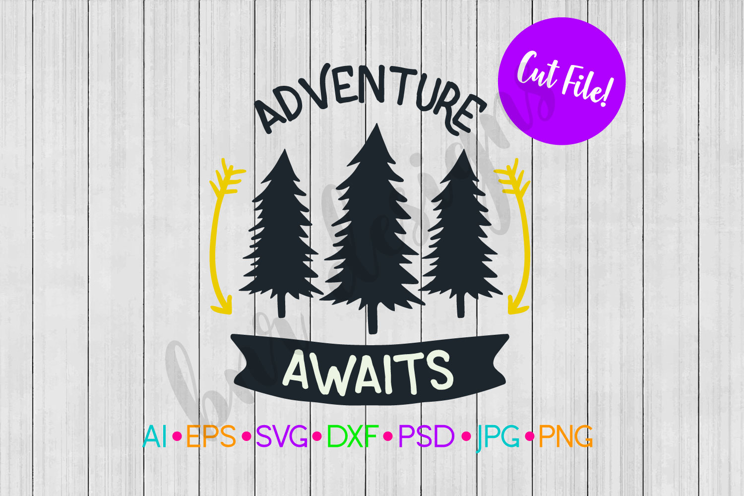 Adventure Awaits SVG, Adventure SVG, SVG File example image 1