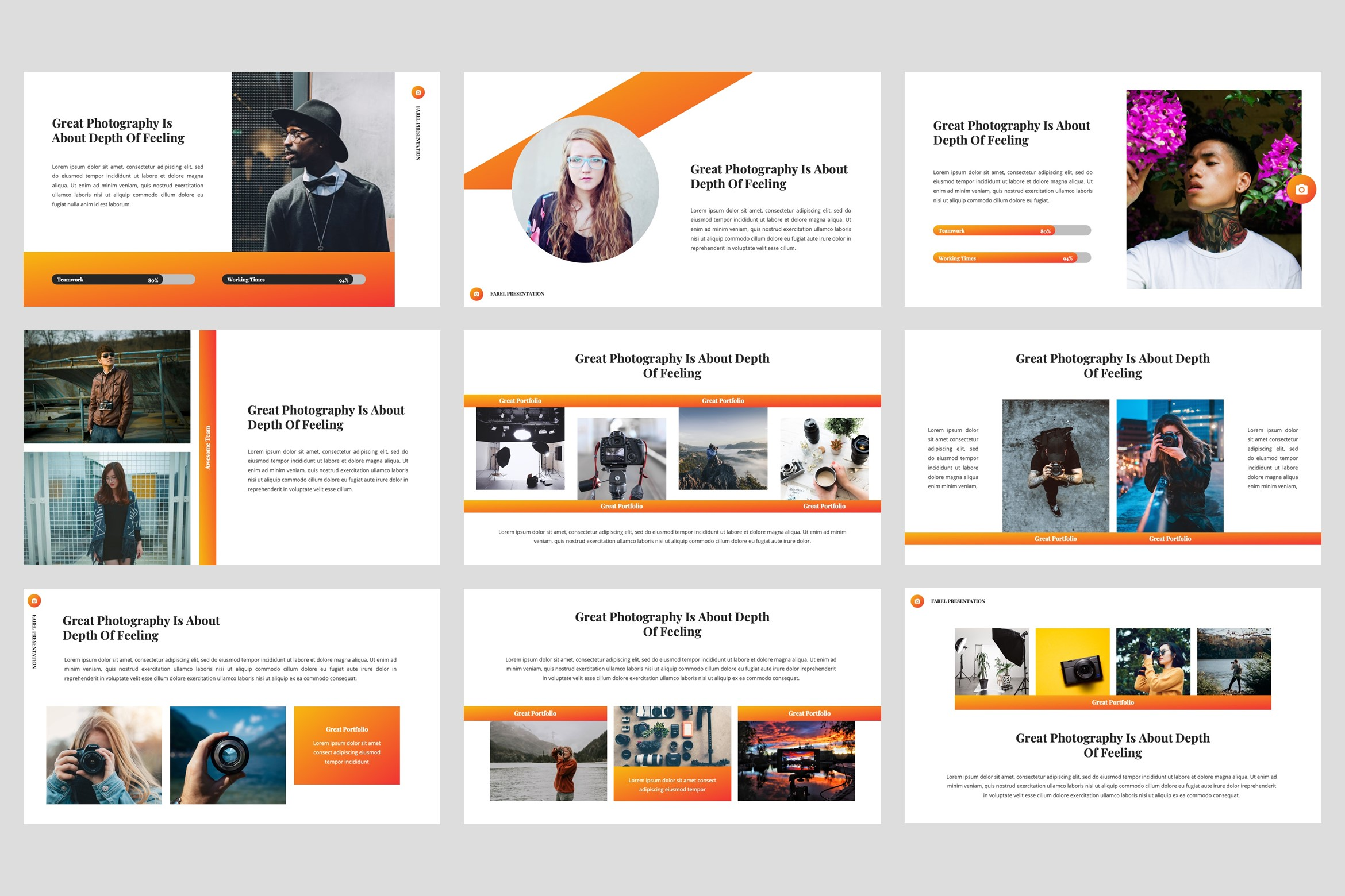 Farel - Photography PowerPoint Template example image 4