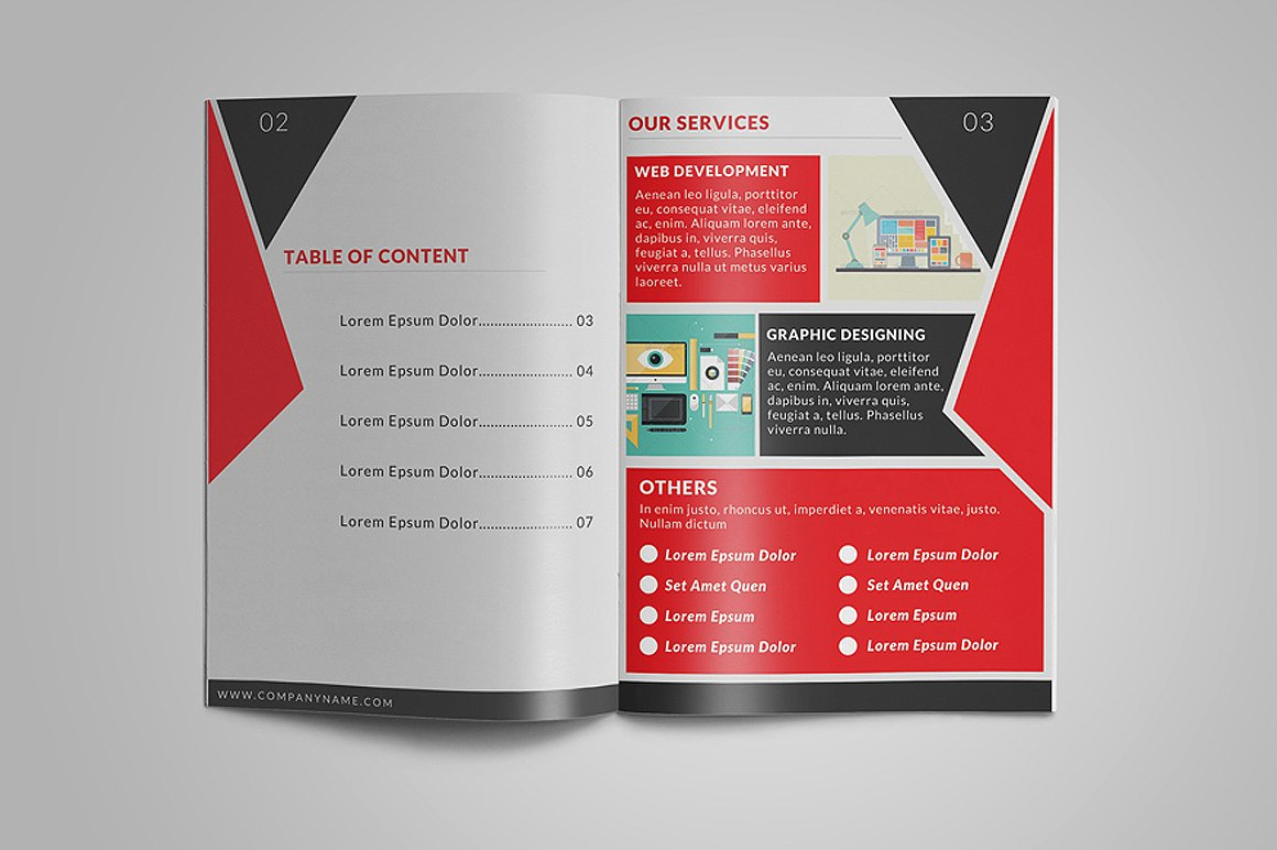 8 Page Corporate Bifold Brochure example image 2