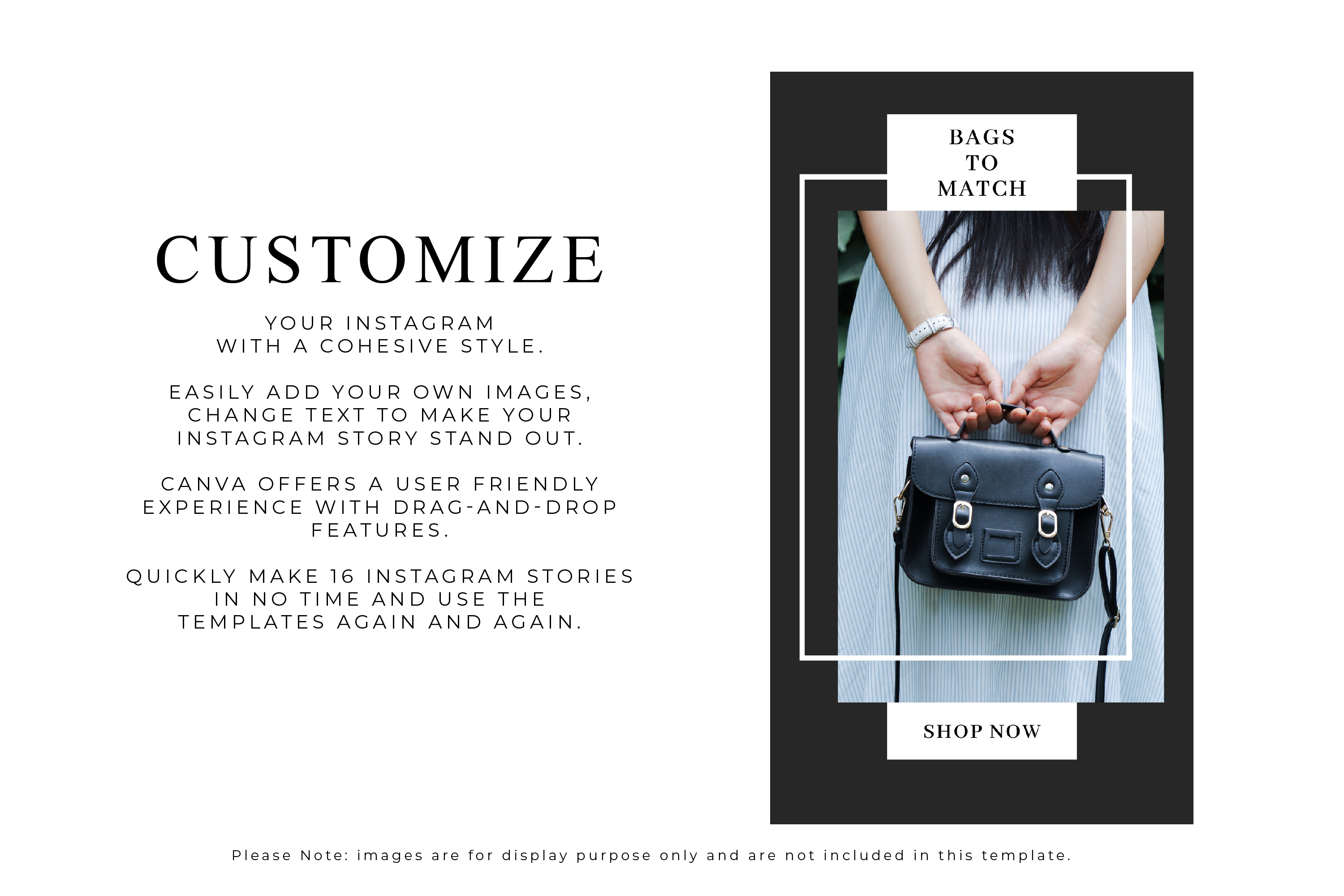 Instagram Story Canva Template - Noire example image 3