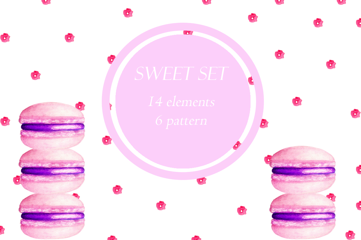sweet desserts-watercolor illustration example image 1