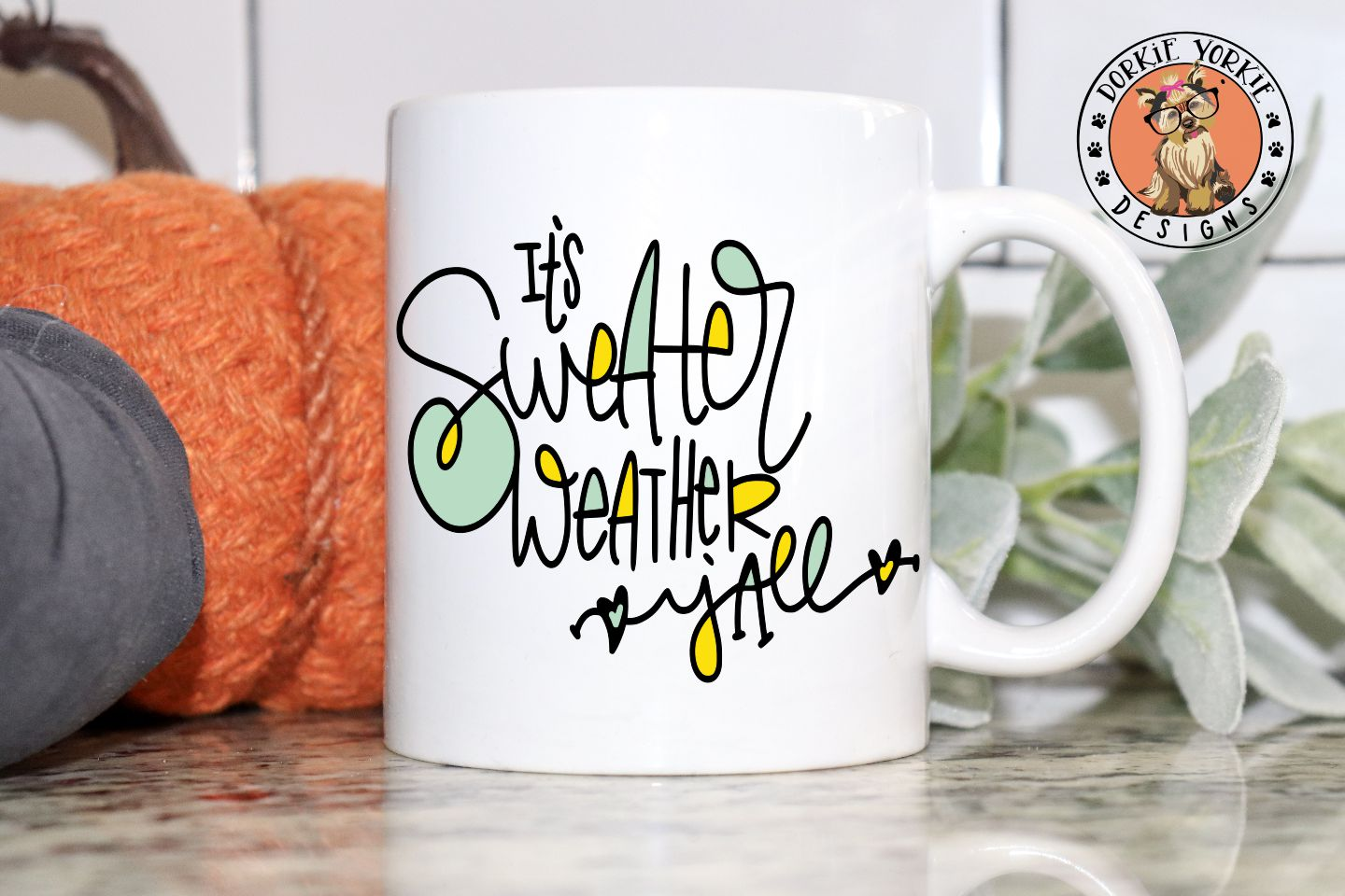 It's Sweater Weather Y'all Hand lettered - SVG Cut File example image 3