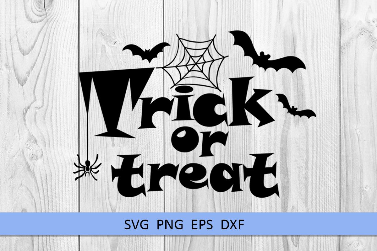 Halloween svg Trick or treat svg Boo svg Spider web svg example image 5