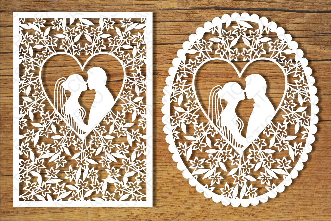 wedding cards 3 svg files for silhouette and cricut