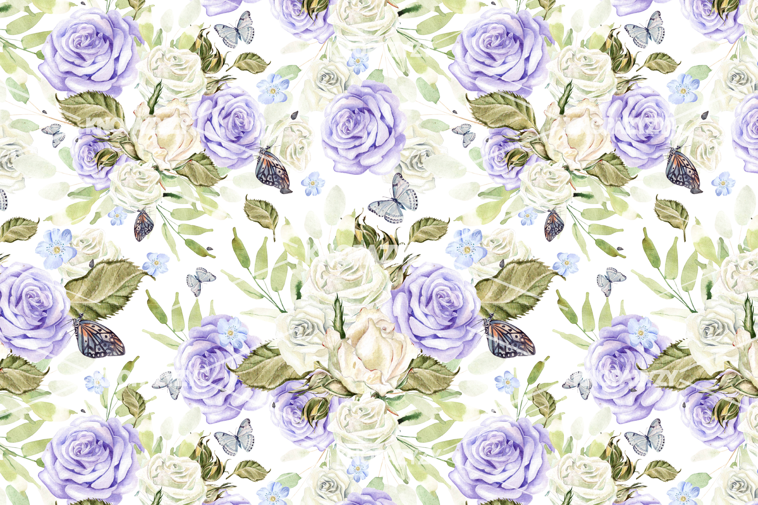 14 Hand drawn watercolor patterns example image 10