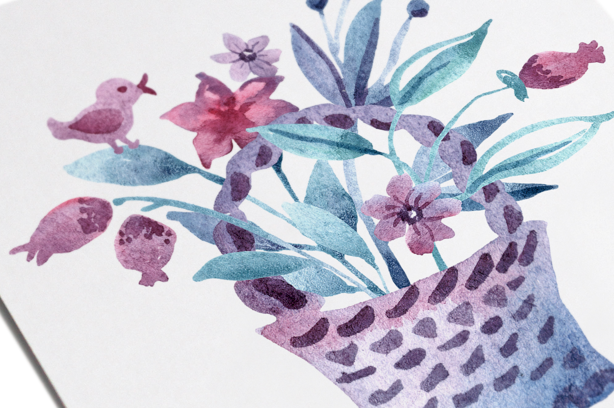 Watercolor spring flower set example image 6