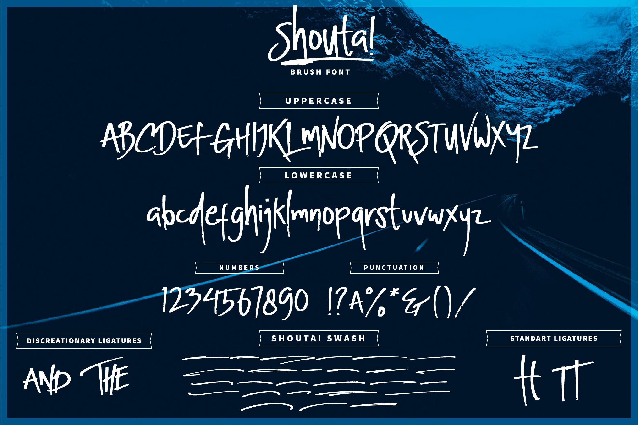 Shouta! Brush Font example image 4