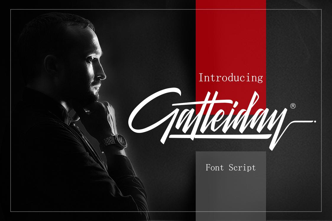Galteiday Font Script example image 1