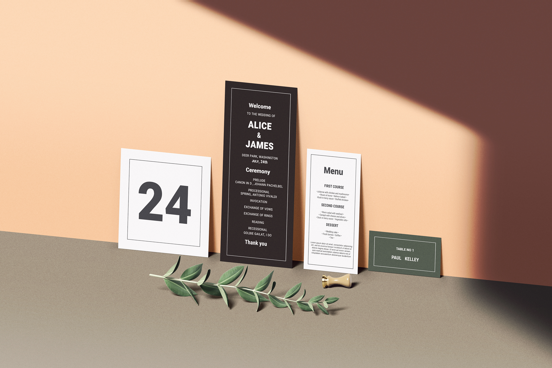 Wedding Invitation Set Mockup example image 5
