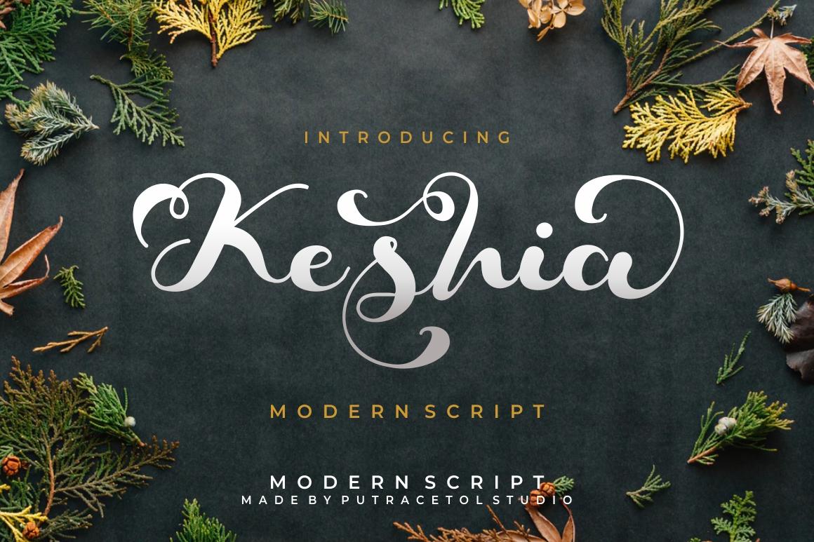 Keshia Script Font example image 1