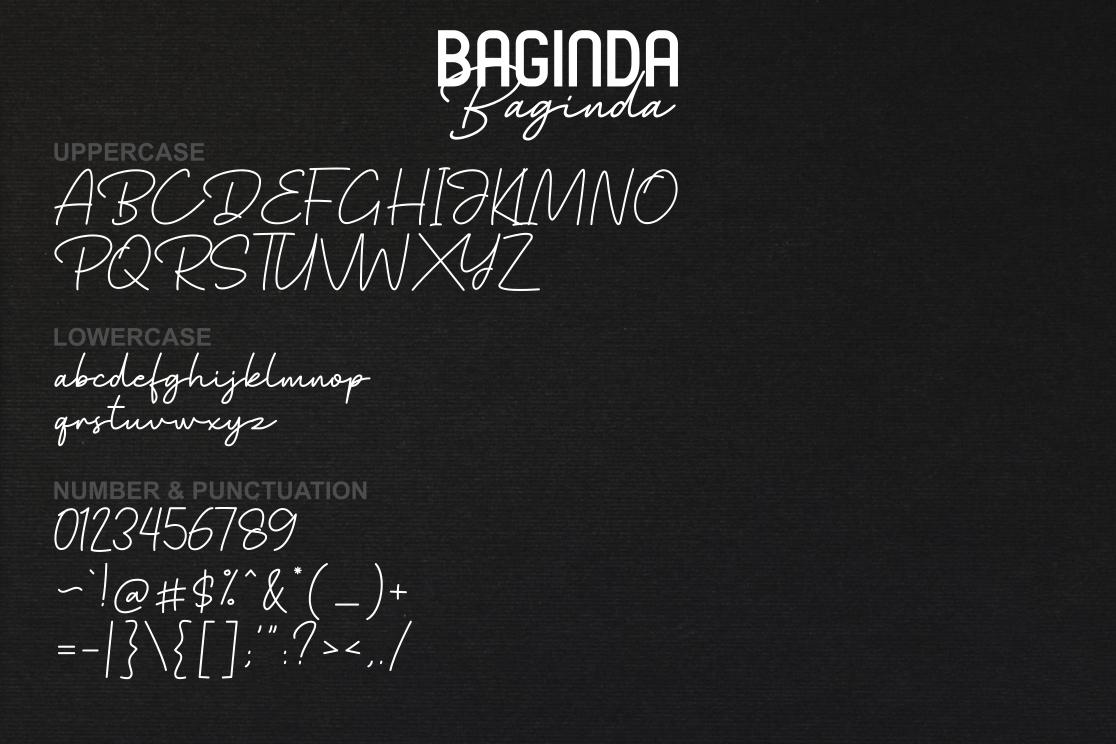 Baginda Font Duo example image 7