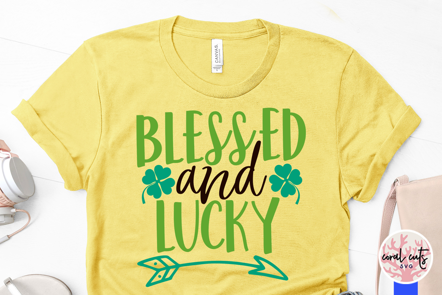 Blessed and lucky - St. Patrick's Day SVG EPS DXF PNG example image 3