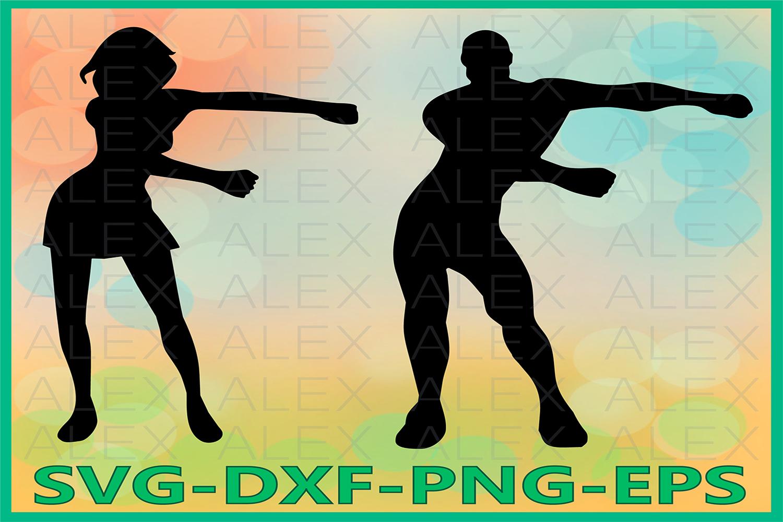 Floss Svg, Floss Dance Svg, Floss Dance Silhouette example image 1
