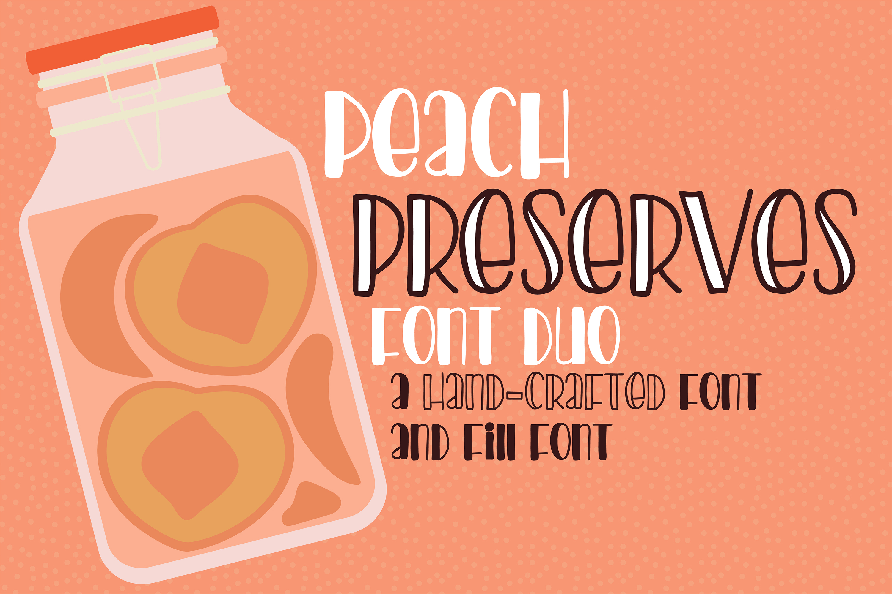 PN Peach Preserves Font Duo example image 1