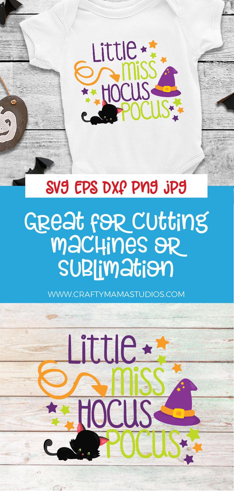 Little Miss Hocus Pocus SVG Sublimation, Halloween SVG example image 3