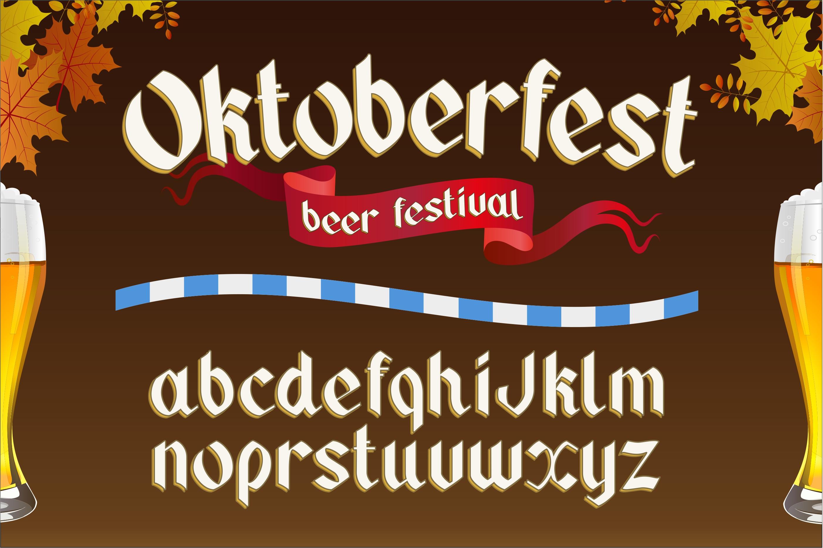 Oktoberfest. OTF gothic font. example image 1