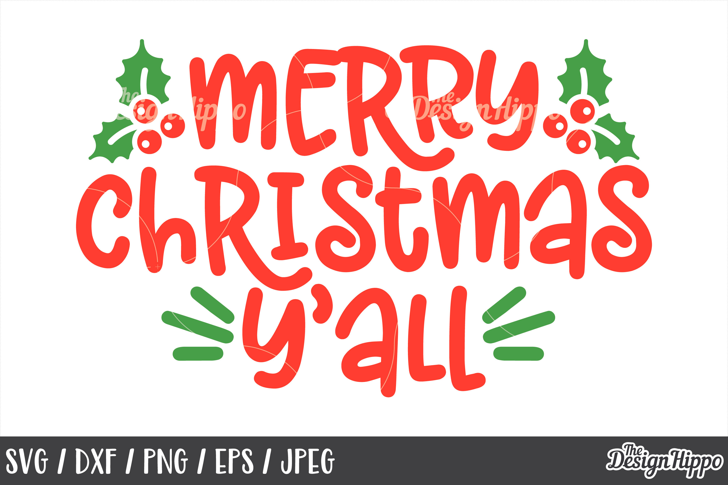 Merry Christmas Yall.Merry Christmas Yall Svg Mistletoe Png Dxf Cut Files
