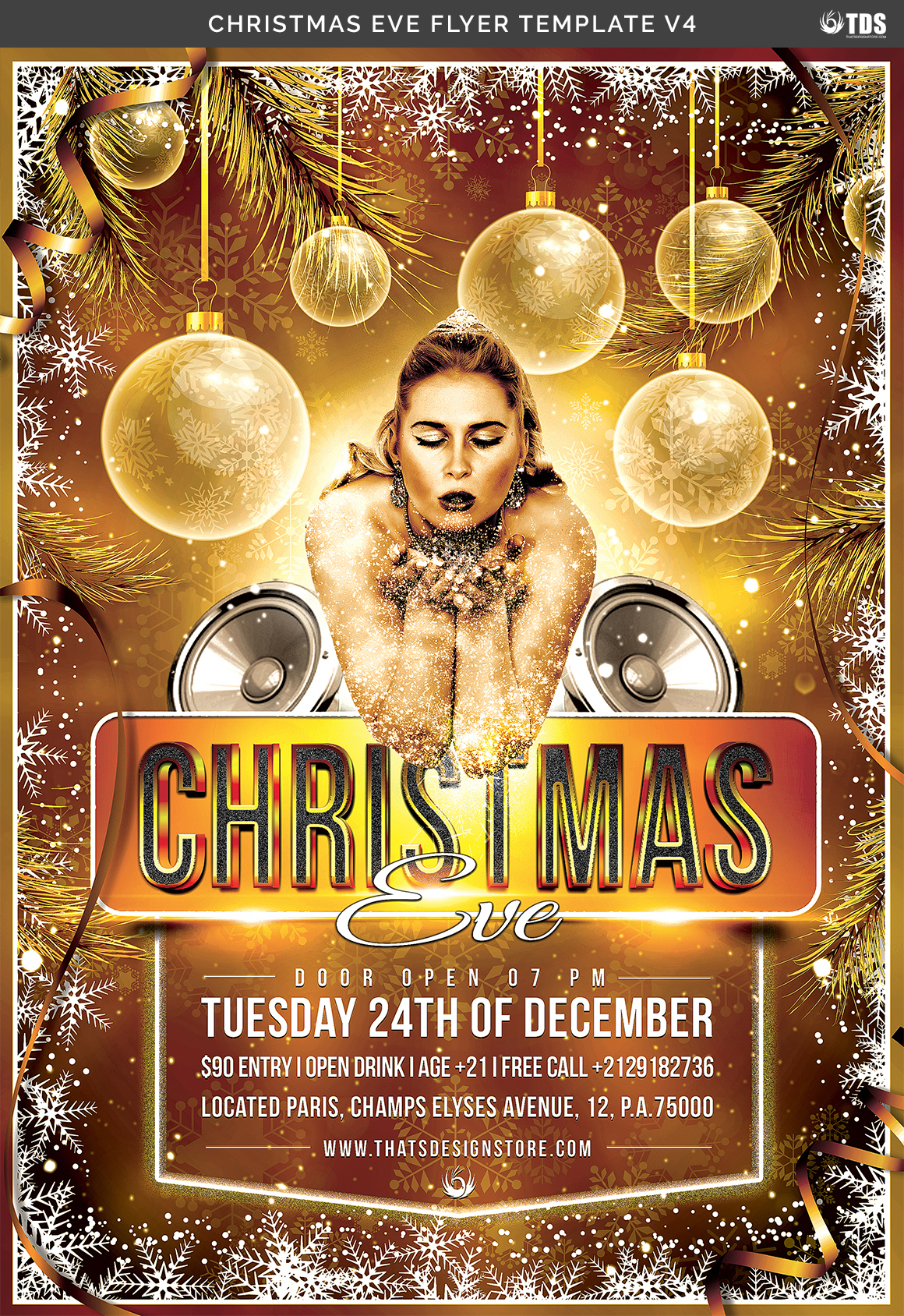Christmas Eve Flyer Template V4 example image 7