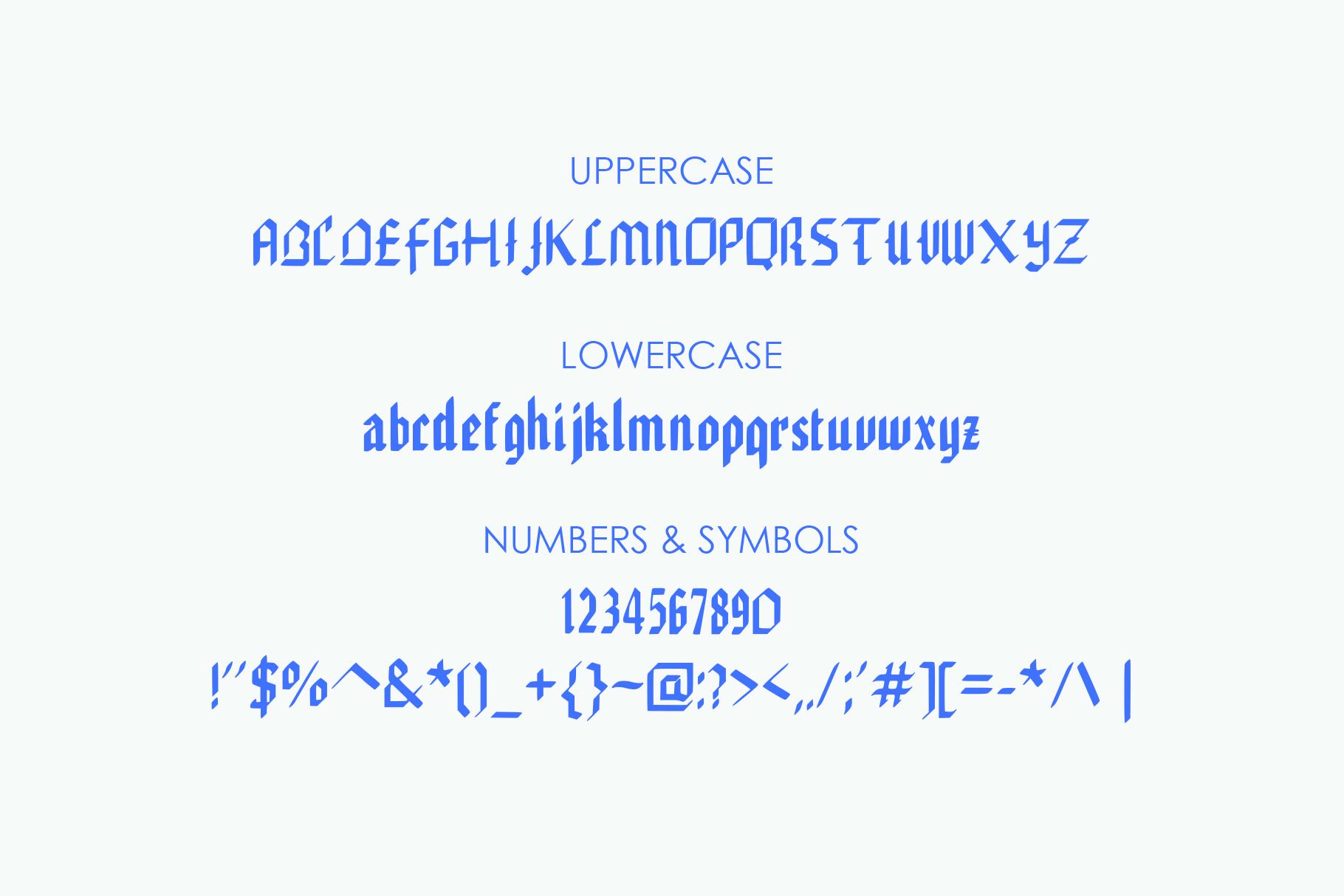 EDGAR, Handmade Gothic Typeface example image 4
