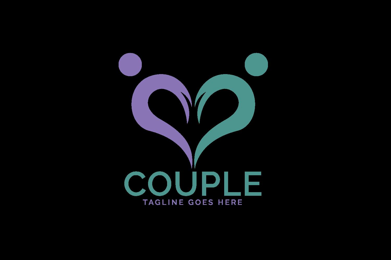 Heart Couple logo design. example image 2