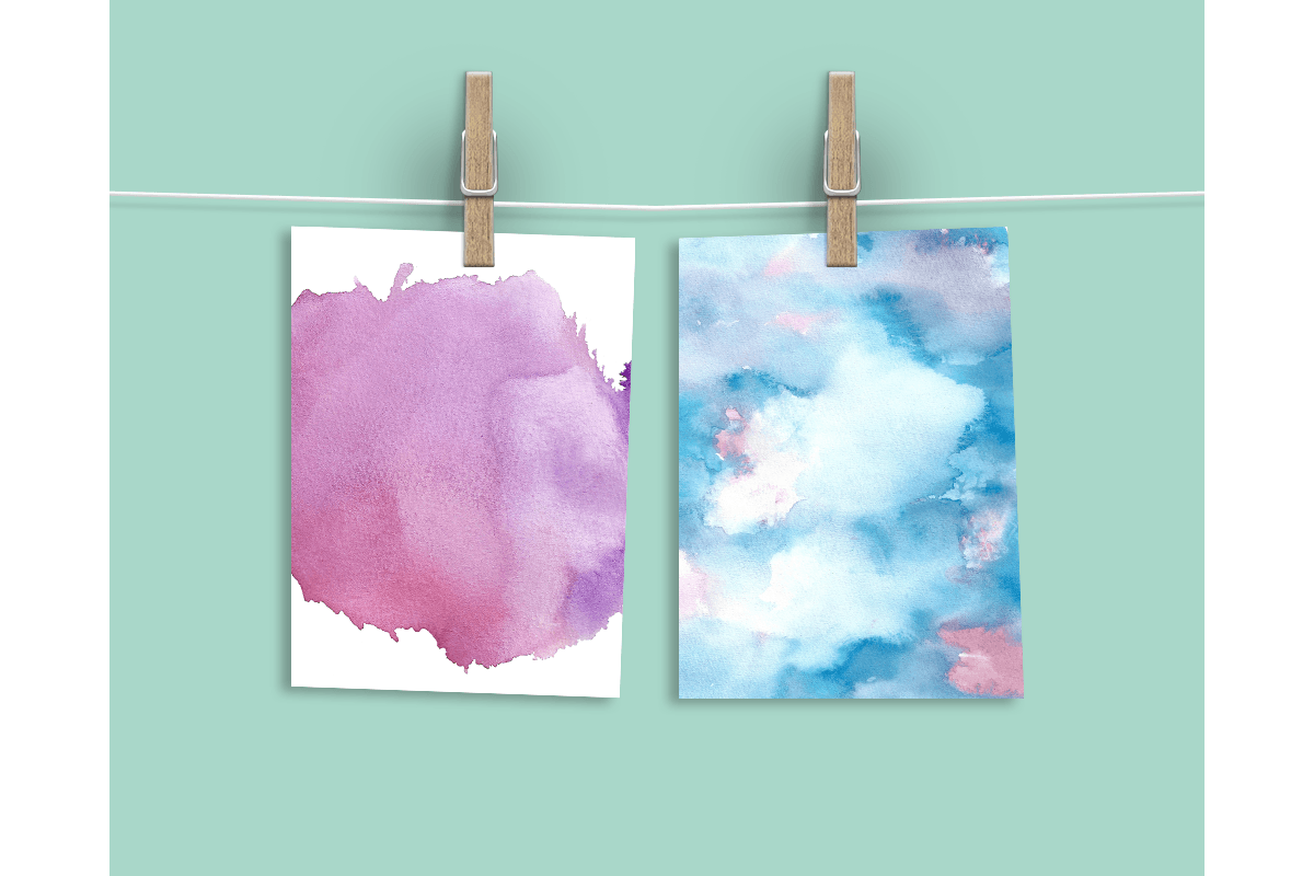 Watercolor Textures - card edition example image 9
