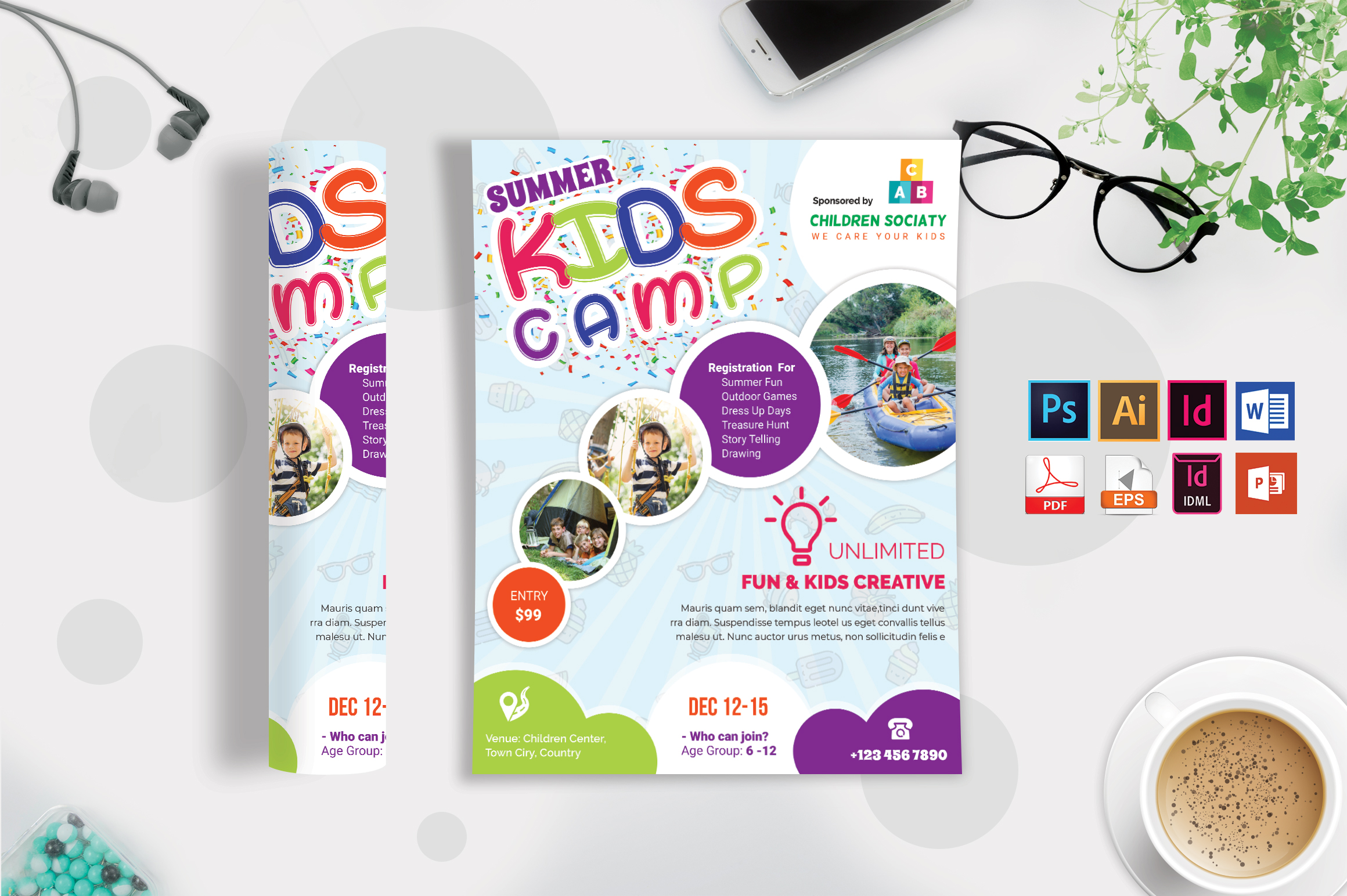 Kids Summer Camp Flyer Vol-06 example image 3