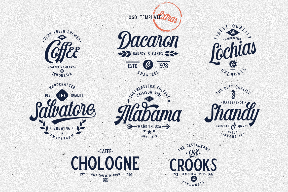 Harlend 6 fonts with extras intro example image 10