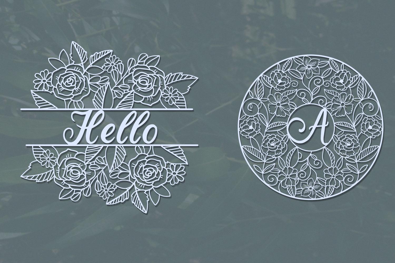Love Floral Papercut Bundle- 14 SVG cut files example image 4